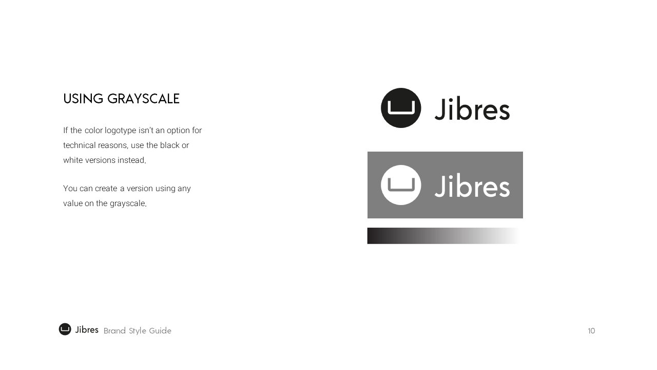 Jibres Logo Style Guide Page10