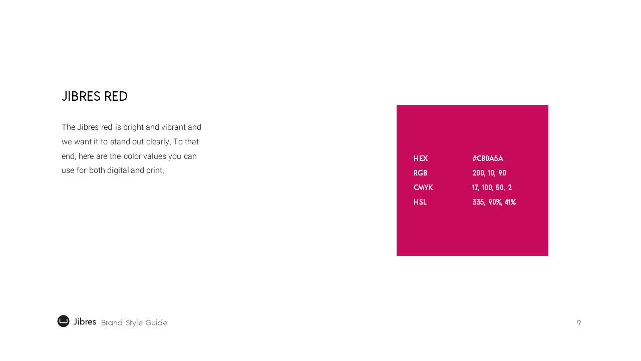 Jibres Logo Style Guide Page9